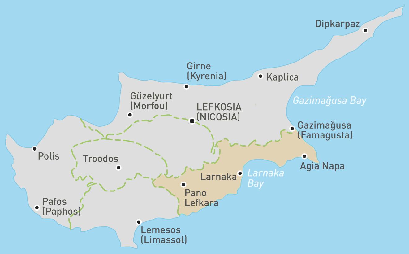 Larnaka map